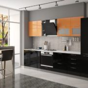 Модульная кухня Олива черный.оранж 3.10