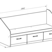 Алёнка кровать малогабаритная размеры