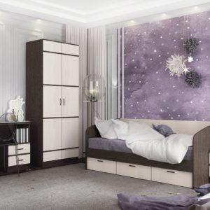 Алёнка спальня Венге цаво - Дуб белфорт