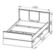 МС Весна Кровать КРВ 1200.1 размеры