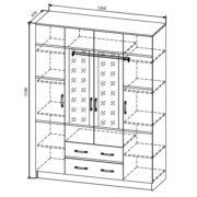 МС Весна Шкаф ШКВ 1600.1 размеры