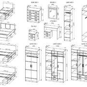 Модульная спальня «Весна 1»
