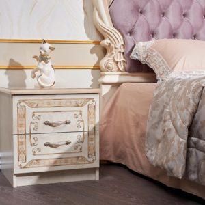 Гарнитур мебели для спальни Аманда (корень дуба-орех фарина) тумбочка