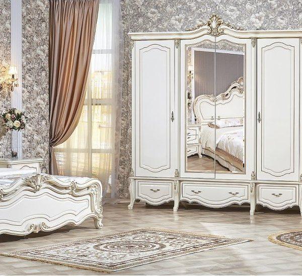 Гарнитур мебели для спальни Медея (крем)