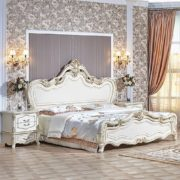 Гарнитур мебели для спальни Медея (крем) кровать