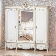Гарнитур мебели для спальни Медея (крем) шкаф 4дв