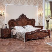 Гарнитур мебели для спальни Виктория (фарина орех) кровать