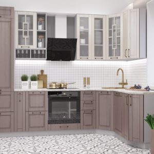 Кухня Гарда 2.95х1.65 Капучино-Перламутр