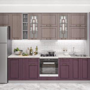 Кухня Гарда 3.6 Капучино-Пурпур