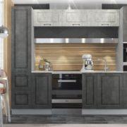 Кухня Капри 2.8 камень светлый-темный