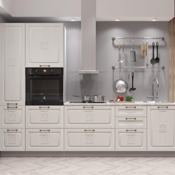 Модульный кухонный гарнитур «Опера» 2800 (Ваниль)