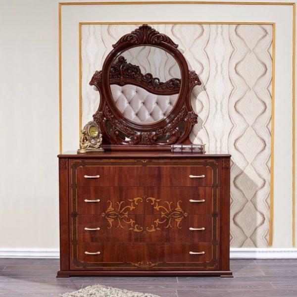Набор мебели для спальни «Аделаида» комод с зеркалом