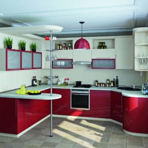 Пластиковая кухня Красная фантазия 1.6х2.4х3.3х1.4