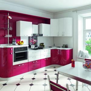 Пластиковая кухня Рубиновый фйерверк Ледяной фейерверк 3.1х1.3
