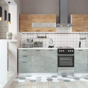 Кухня Дуся 2.0 Дуб бунратти-Цемент