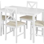 Обеденный комплект эконом Хадсон (стол + 4 стула) pure white фото-6