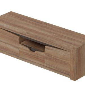 Соренто гостиная Тумба ТВ с 2 дверцами и ящиком Дуб стирлинг