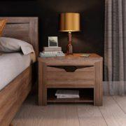 Спальный гарнитур Соренто тумбочка фото Дуб стирлинг