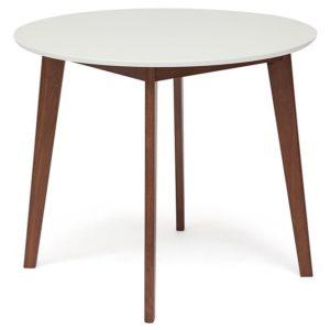 Стол обеденный BOSCO белый-коричневый