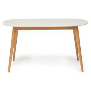 Стол обеденный MAX (Макс) белый-бук