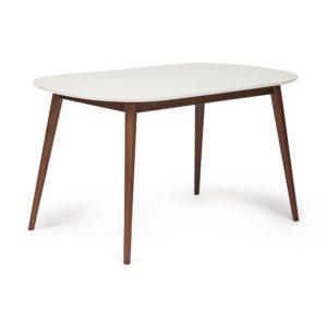 Стол обеденный MAX (Макс) белый-коричневый