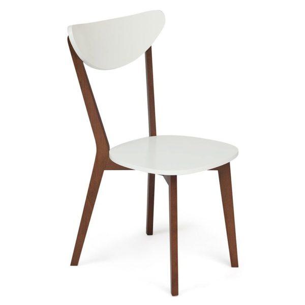 Стул жесткое сиденье MAXI (Макси) коричневый-белый