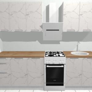 Кухня Авенза БЬЯНКО (белый мрамор) 2.0