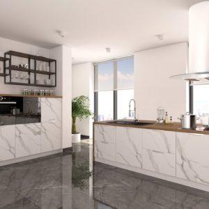Кухня Авенза БЬЯНКО (белый мрамор)