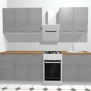 Кухня Авенза ГРИДЖИО (серый мрамор) 2.0