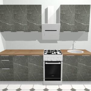 Кухня Авенза НЕРО (черный мрамор) 2.0