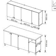 Кухня ПОИНТ (POINT) 180 Схема